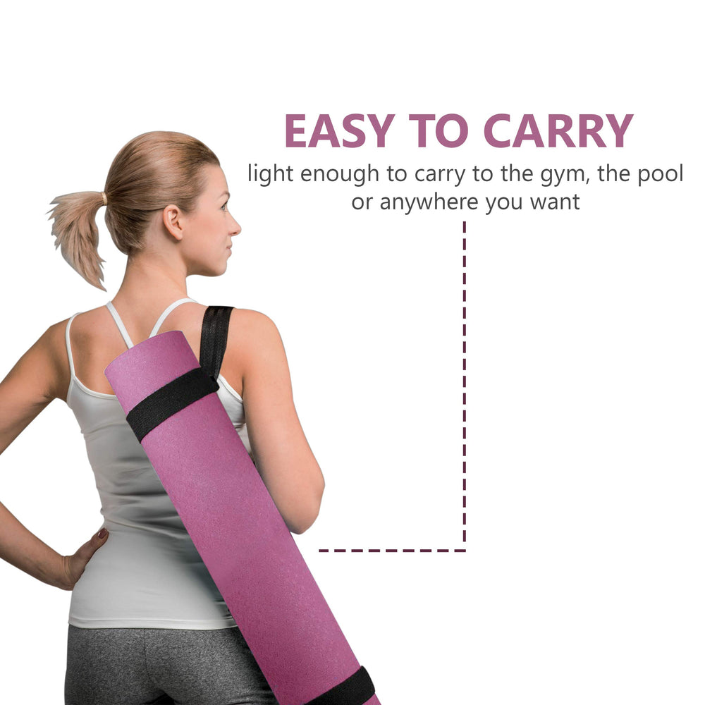 Pink Limm Yoga Mat Fitness Mat - TPE Yoga Mat with Strap for Home Gym