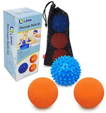 Limm Resistance Bands Exercise Loops and Limm Therapy Massage Ball Set with Lacrosse & Spiky Combo