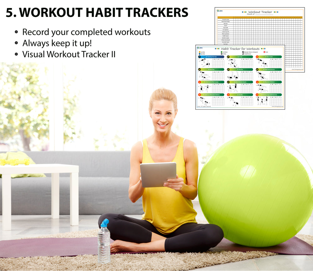 Home Workout Program I: Complete Sheets to Workout focusing on Muscle Groups