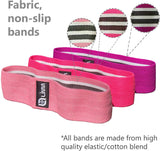 Bundle of Pink Limm Resistance Bands Exercise Loops (Set of 5, 12-inch Workout Bands) and Limm Booty Bands