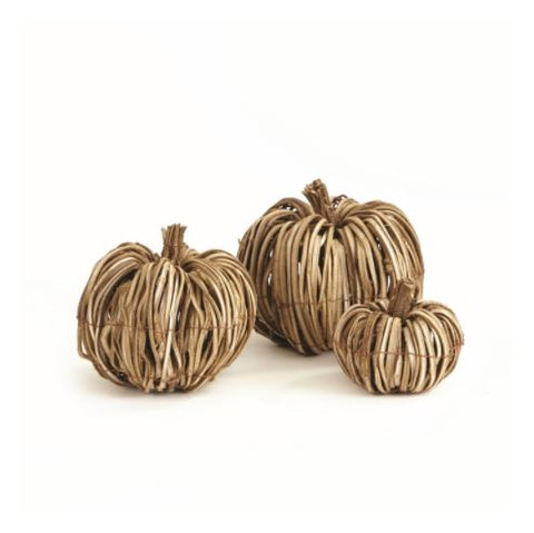 Grapevine Pumpkin Set of 3