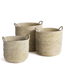 River Grass Round Basket with Handles