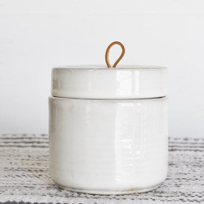 Ceramic White Jar