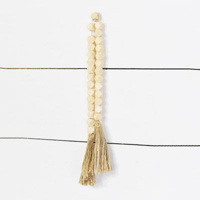 WASHED BEAD WITH TASSLE