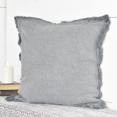 Frey Edge Basketweave Pillow