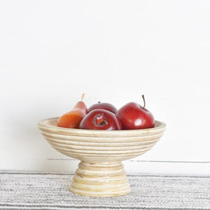 RAISED WOOD BOWL
