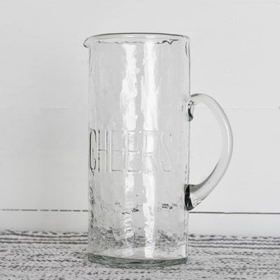 CHEERS GLASS PITCHER WITH HANDLE