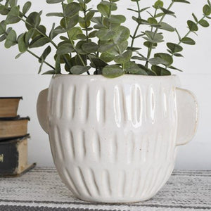 2 HANDLE STRIPE PLANTER