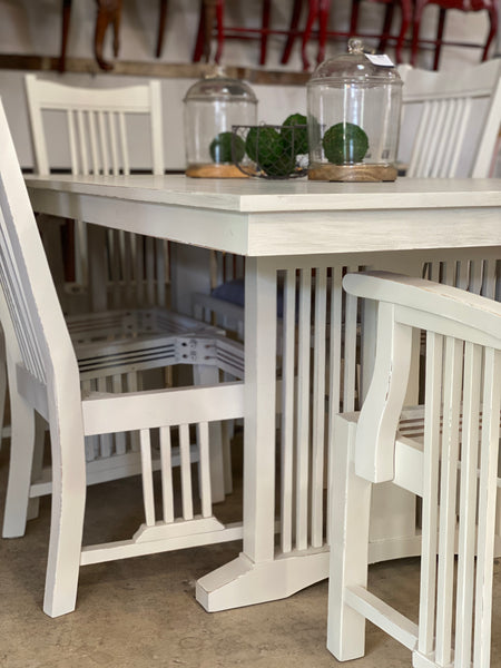 Farmhouse Table with Six Chairs