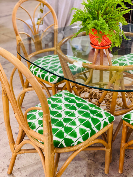 Bamboo Table & Chairs Set