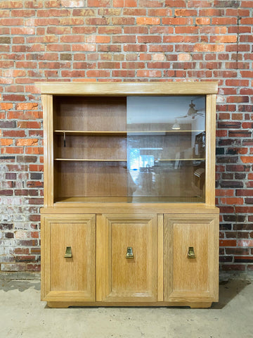 Blonde Oak Hutch