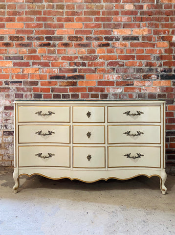 French Provincial 9 Drawer Dresser (Price Includes Customization)