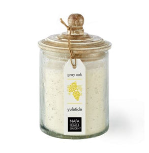 Gray oak soy wax candle Yuletide