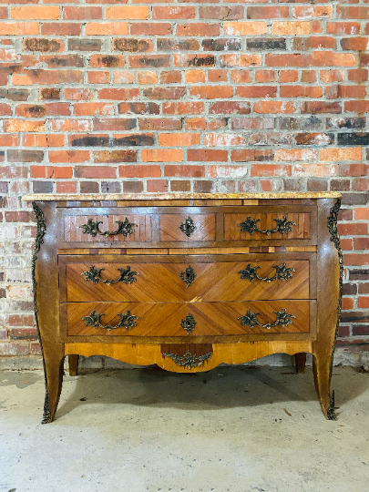 Marbled Top Bombay Chest