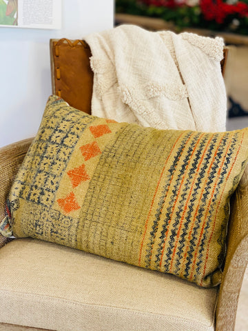 Woven Multi-colored pillow