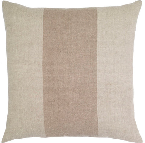 Natural Linen Stripe Pillow - square