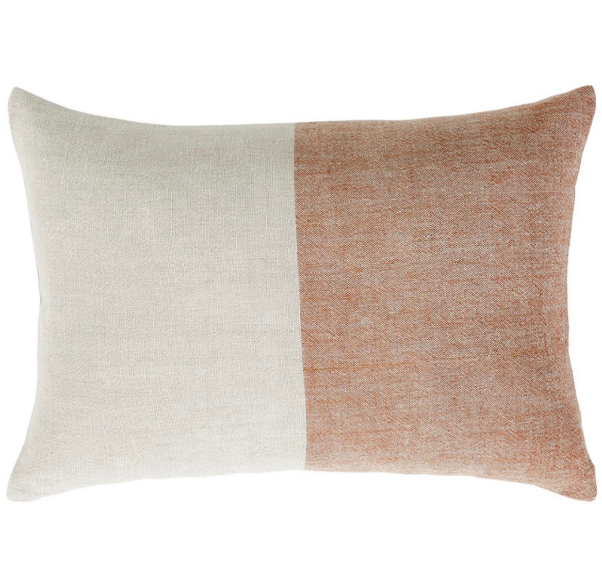 Two Tone Linen Pillow in Orange