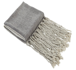 Pure linen throw