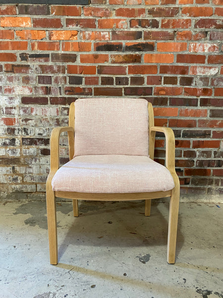 1986 Vintage Re-Upholstered Occasional Chair - Set of 2
