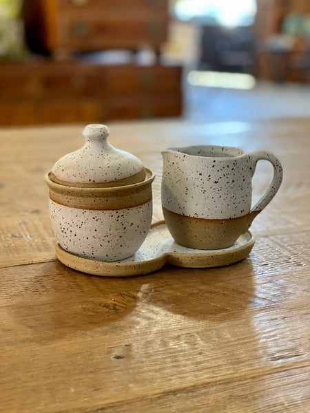 white sugar bowl set