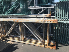 Damaged pallet rack upright