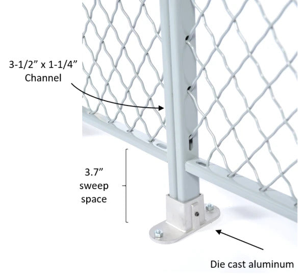 wire mesh cages closeup