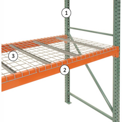 One bay of pallet rack