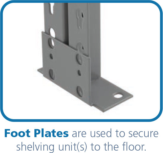 industrial shelving foot plates