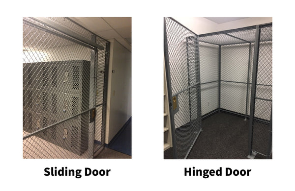 sliding vs hinged door on wire mesh cages