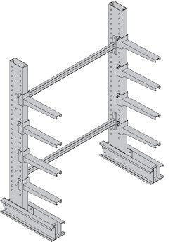 Medium Duty, Single-Sided Cantilever Starter Bay