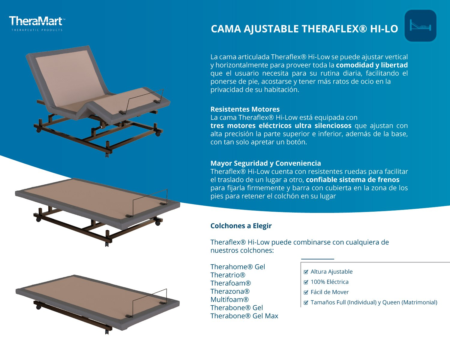 Cama Ajustable Theraflex Hi-Lo