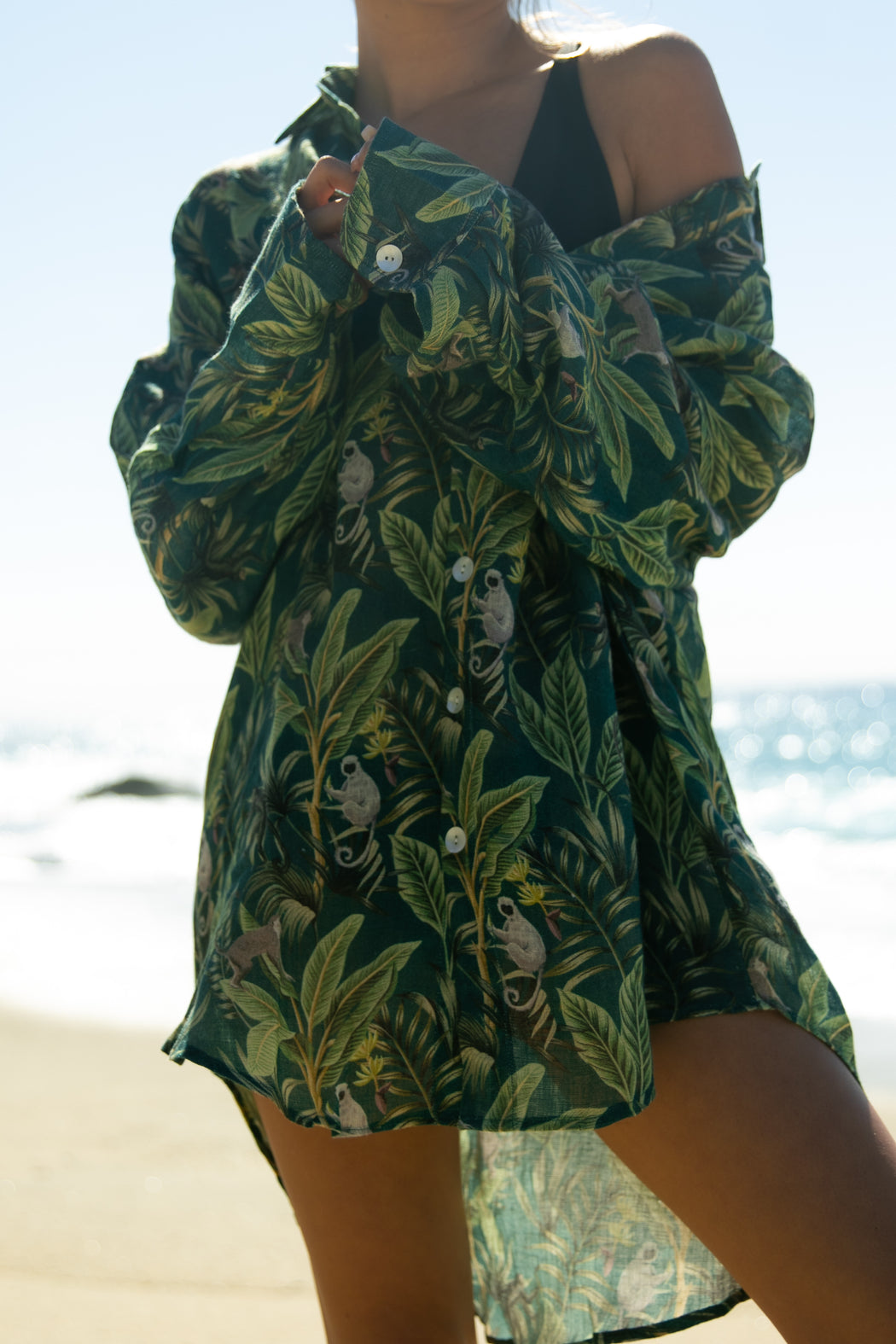 The Moonlight Breeze Shirt in Deep Jungle