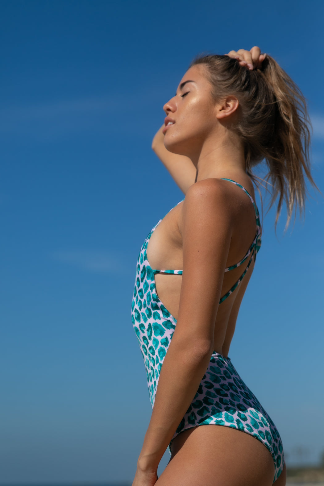 The Sunseeker Swimsuit in Leopard