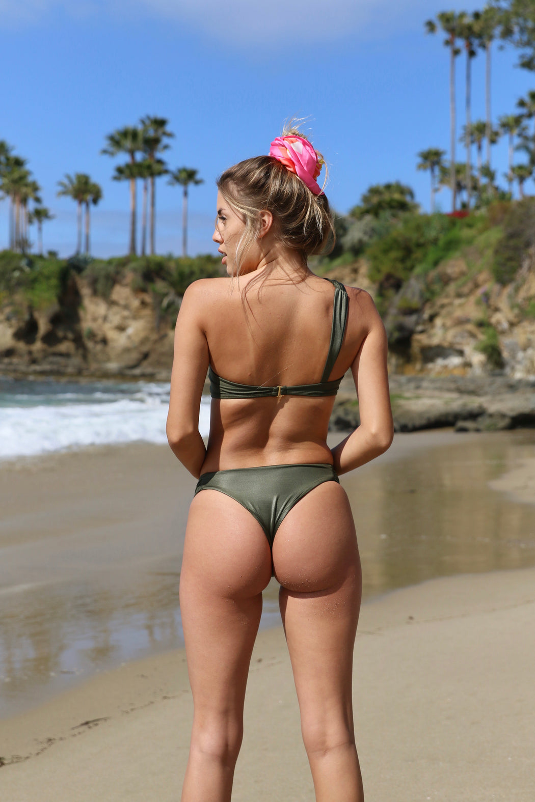 The Olivia Bottom in Shimmering Olive