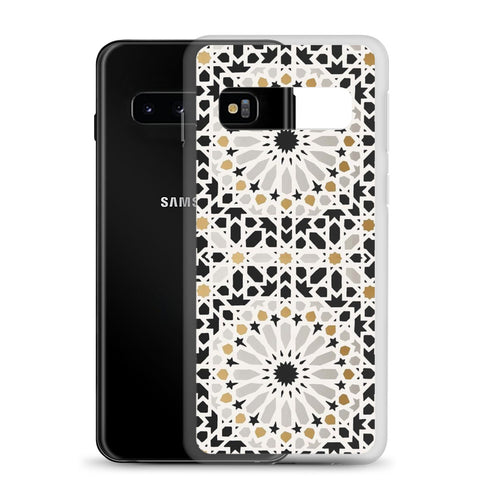 Samsung Galaxy Cases - Moroccan zelij black & gold