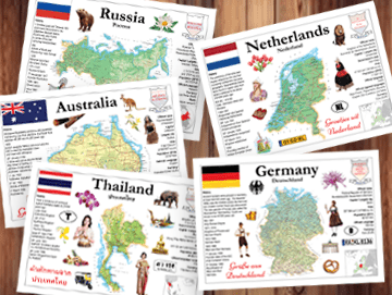 Maps of the world MOTW - Postcards Market