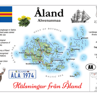 Europe | Aland MOTW - top quality approved by www.postcardsmarket.com specialists