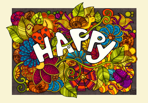 Colours: Happy - Postcards Market