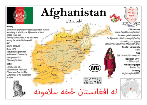 Asia | Afghanistan MOTW - top quality approved by www.postcardsmarket.com specialists