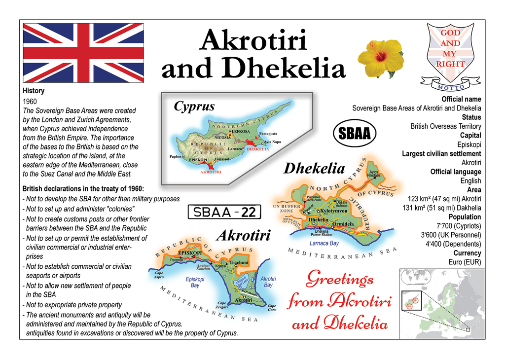 Akrotiri and Dhekelia MOTW - Postcards Market