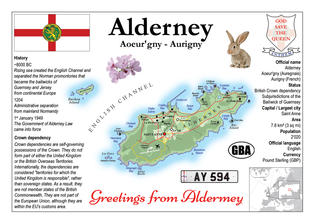 Europe | Alderney MOTW - top quality approved by www.postcardsmarket.com specialists