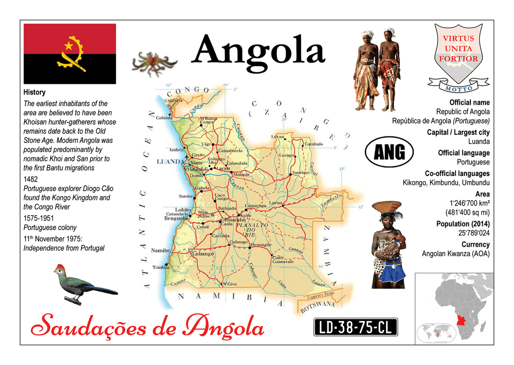 AFRICA | Angola MOTW - top quality approved by www.postcardsmarket.com specialists