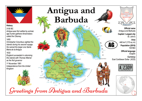 Antigua & Barbuda MOTW - Postcards Market
