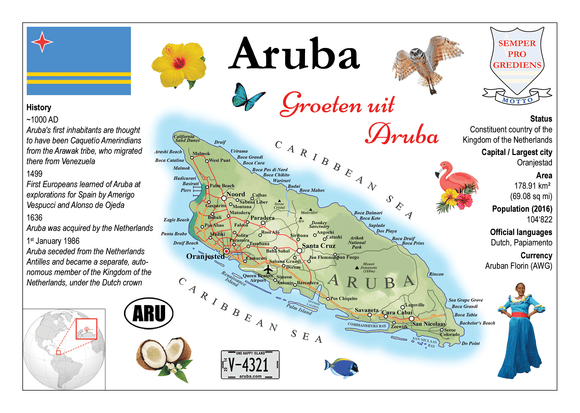 South America | Aruba MOTW - top quality approved by www.postcardsmarket.com specialists