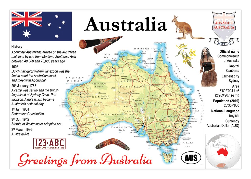 Oceania | Australia MOTW - top quality approved by www.postcardsmarket.com specialists