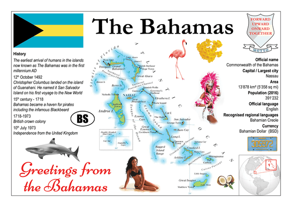 North America | The Bahamas MOTW - top quality approved by www.postcardsmarket.com specialists