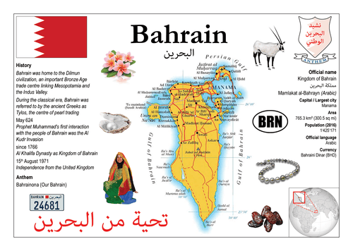 Asia | Bahrain MOTW - top quality approved by www.postcardsmarket.com specialists
