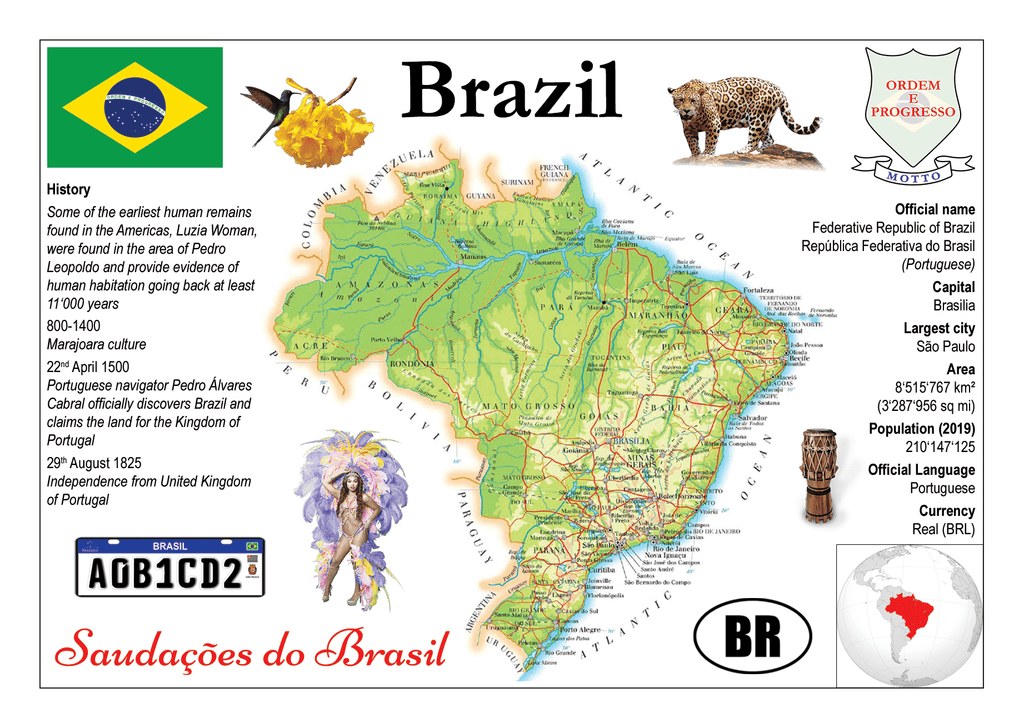 South America | Brazil MOTW - top quality approved by www.postcardsmarket.com specialists