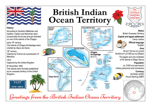 Asia | British Indian Ocean Territory MOTW - top quality approved by www.postcardsmarket.com specialists