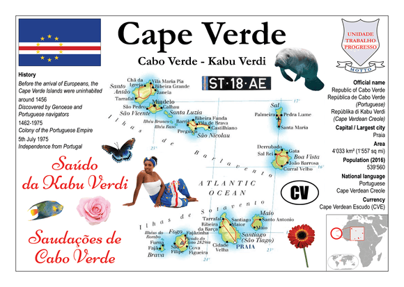 AFRICA | Cape Verde MOTW - top quality approved by www.postcardsmarket.com specialists